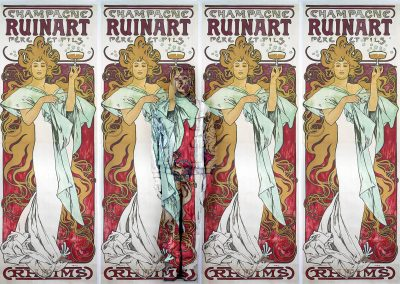 Hiding In Mucha Posters